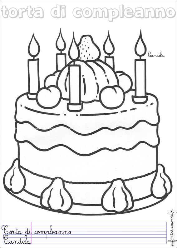 coloriage gateau anniversaire 3 ans
