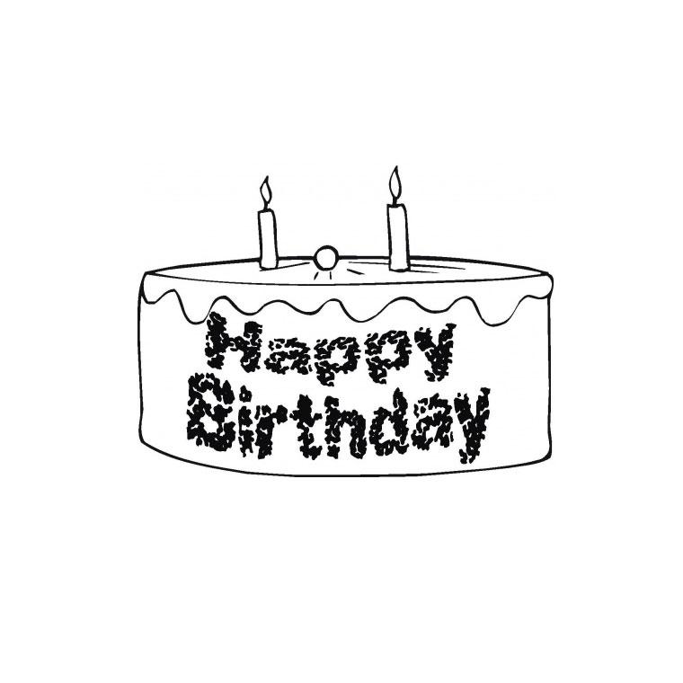 Coloriage gateau anniversaire - Dessin sur gateau anniversaire ...
