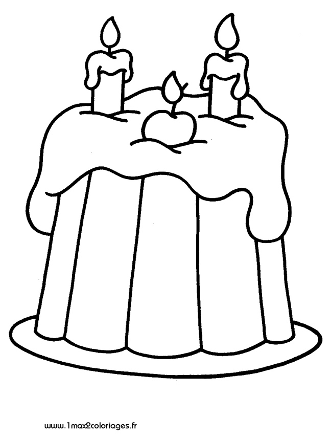 dessin gateau anniversaire 2 ans. Black Bedroom Furniture Sets. Home Design Ideas