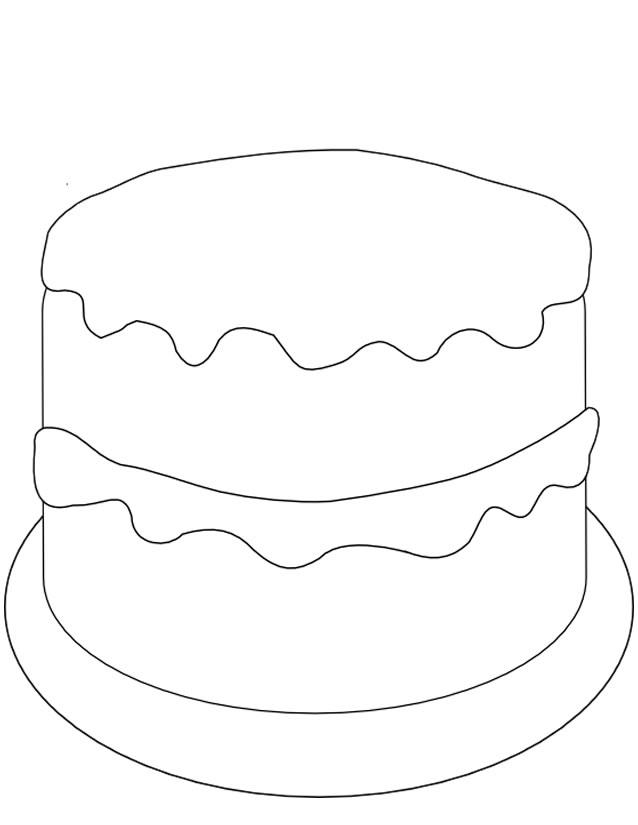 dessin à colorier gateau anniversaire 80 ans
