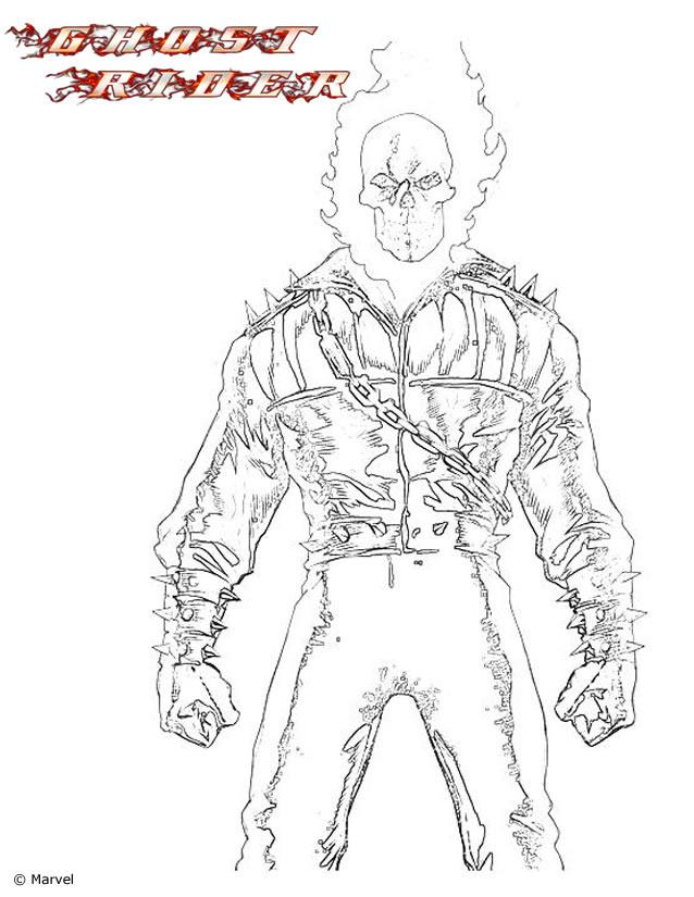 70 dessins de coloriage ghost rider imprimer - Dessin de ghost rider ...