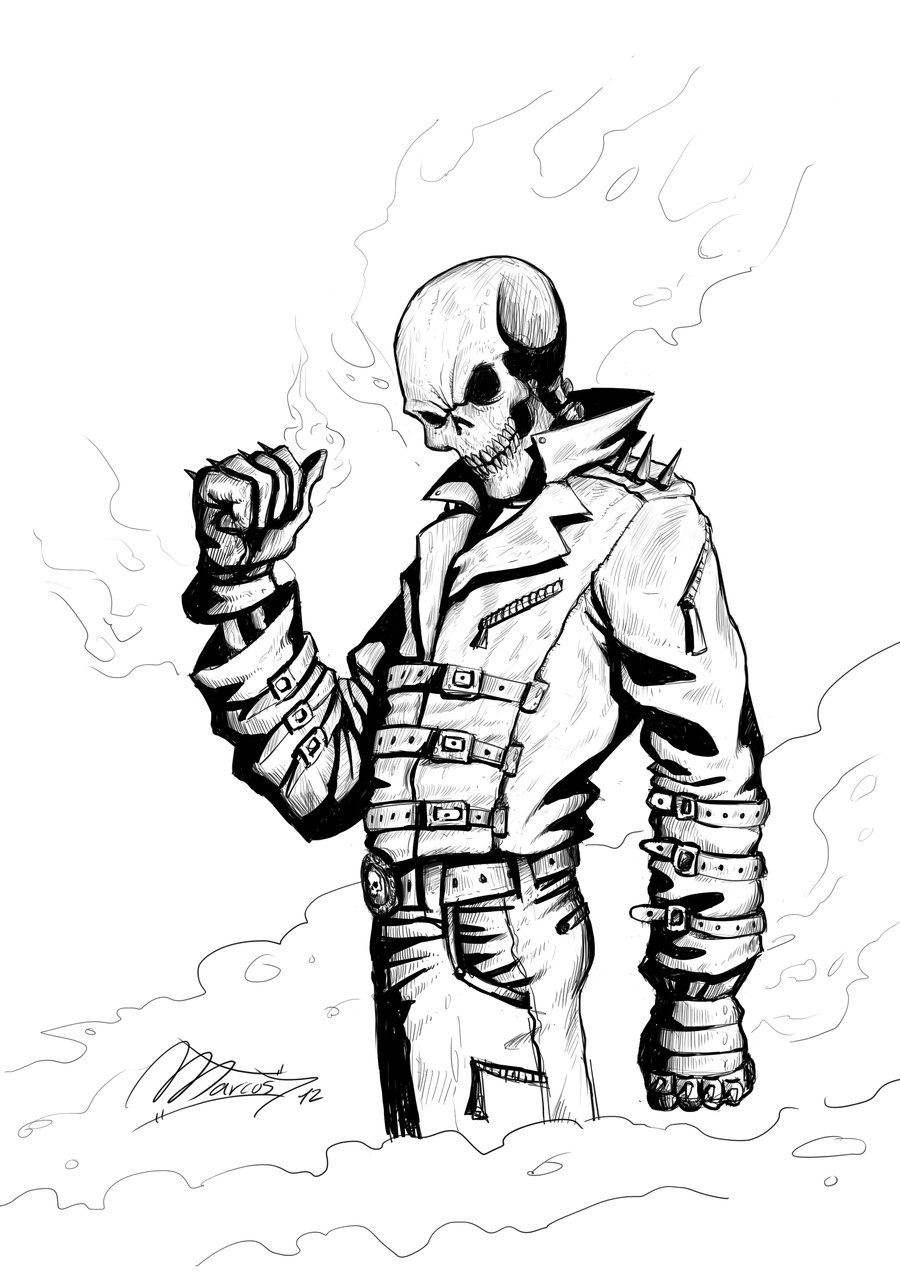 Dessin Ghost Rider A Imprimer