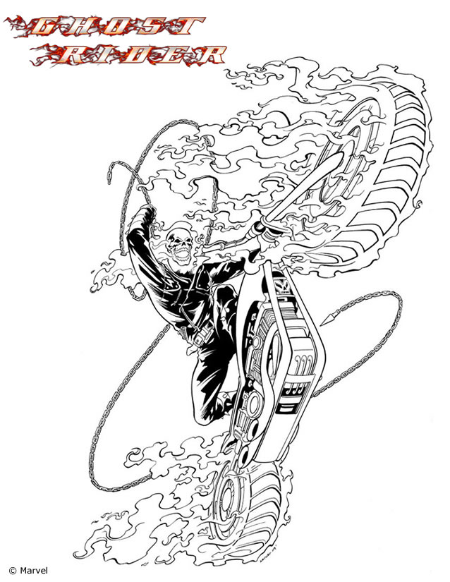 Daredevil Coloring Pages Coloriage Ghost Rider U00e0 Colorier