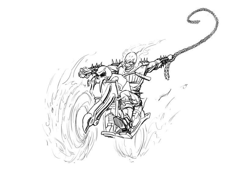 Coloriage dessiner ghost rider en ligne - Coloriage ghost rider ...
