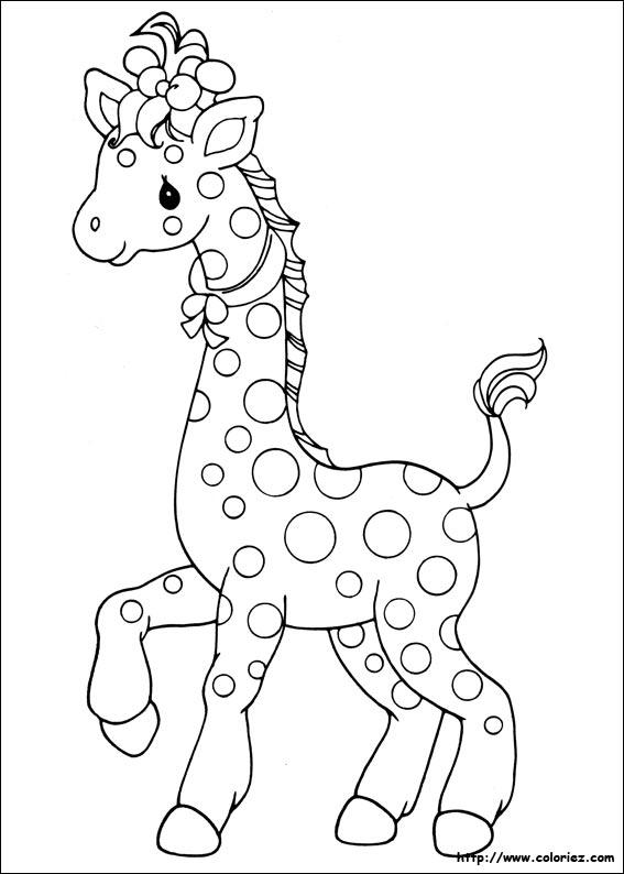 dessin à colorier girafe