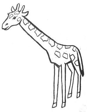 coloriage � dessiner girafe et girafon