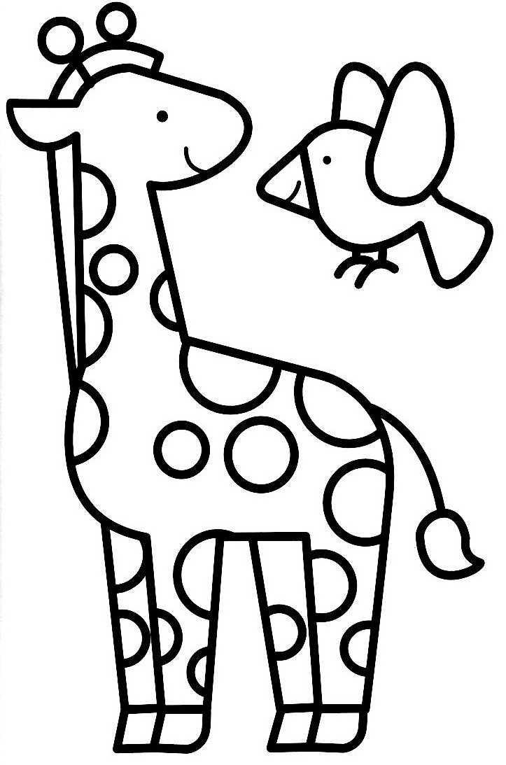 coloriage de girafe gratuit