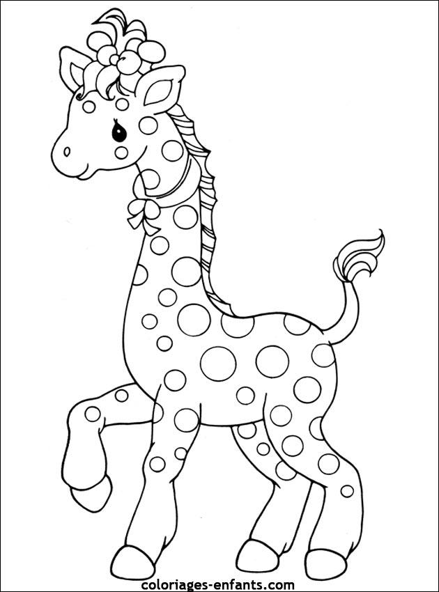 Dessin Girafe Rigolote coloriage girafe rigolote a imprimer gratuit