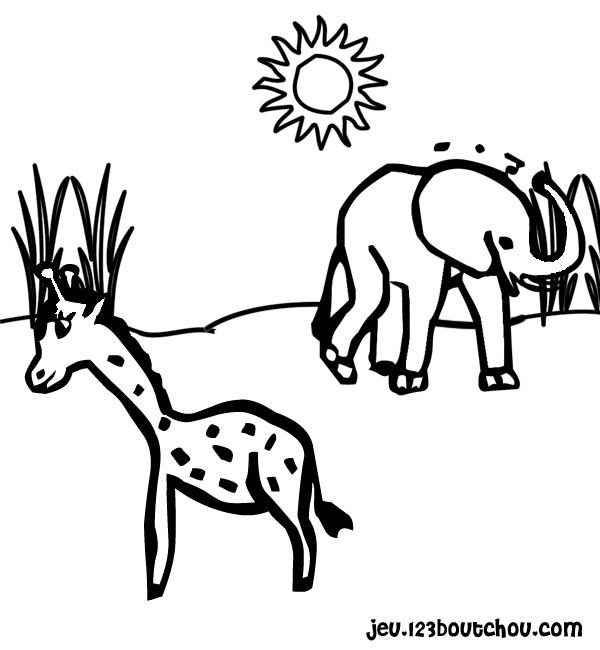 dessin à colorier sophie la girafe