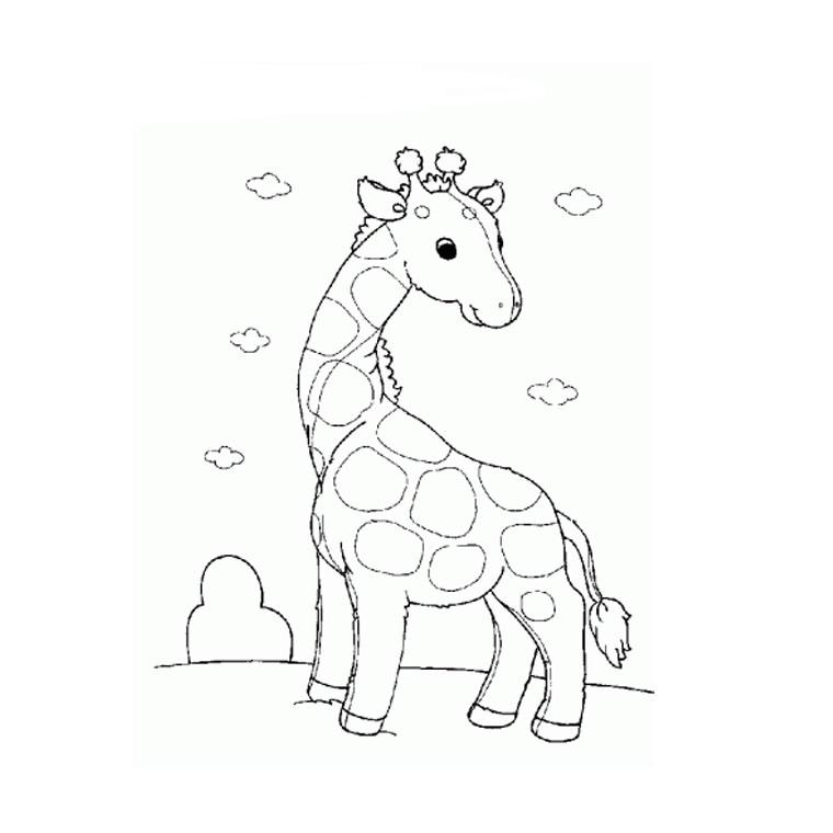Dessin colorier la girafe - Coloriage de girafe ...