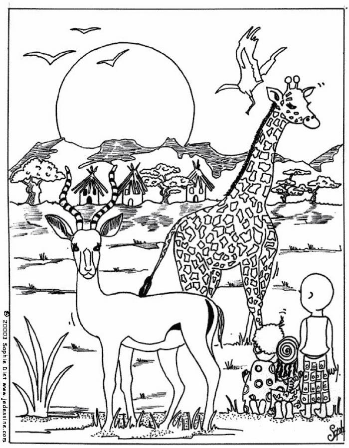 dessin à colorier petshop girafe