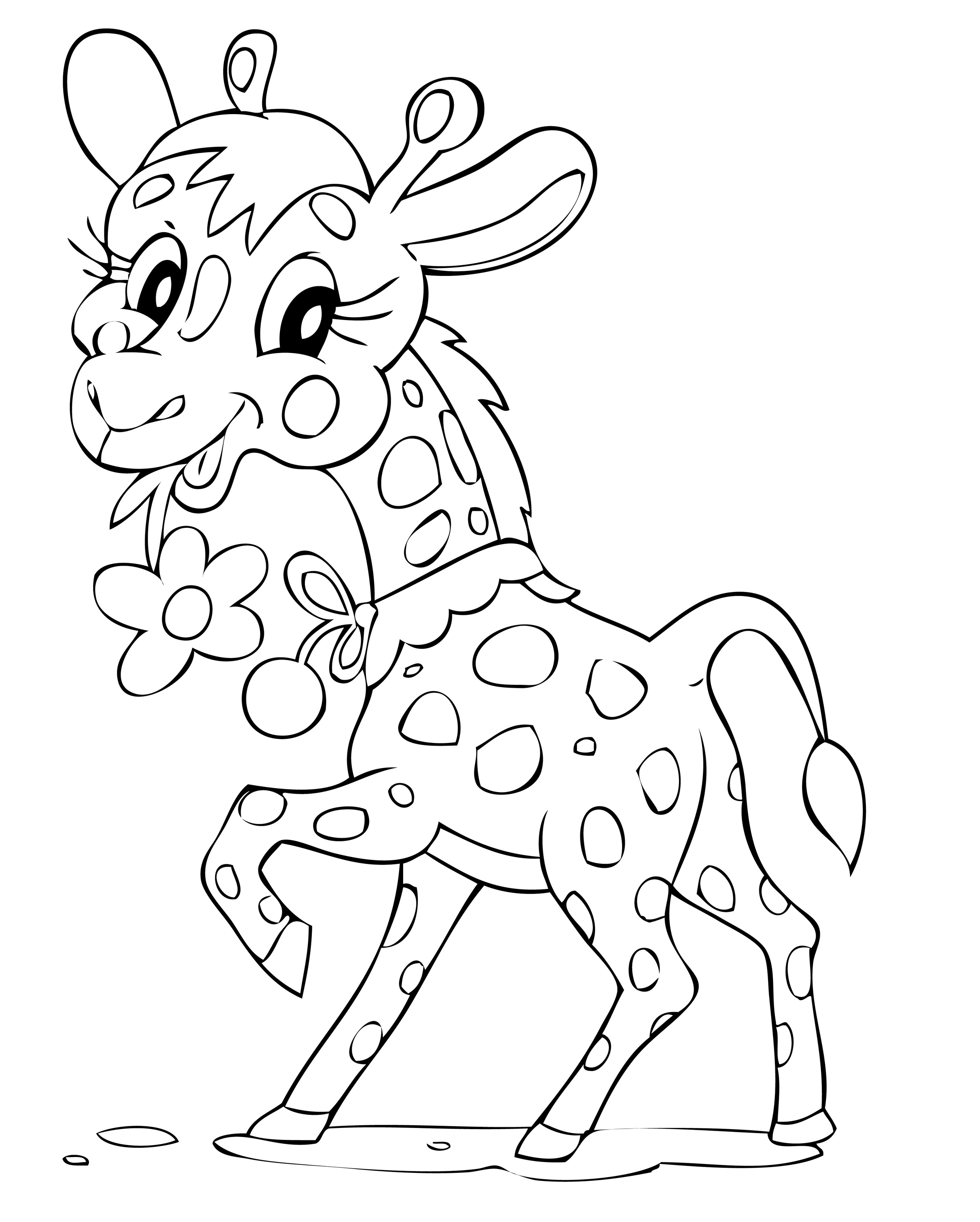 modele coloriage à dessiner girafe