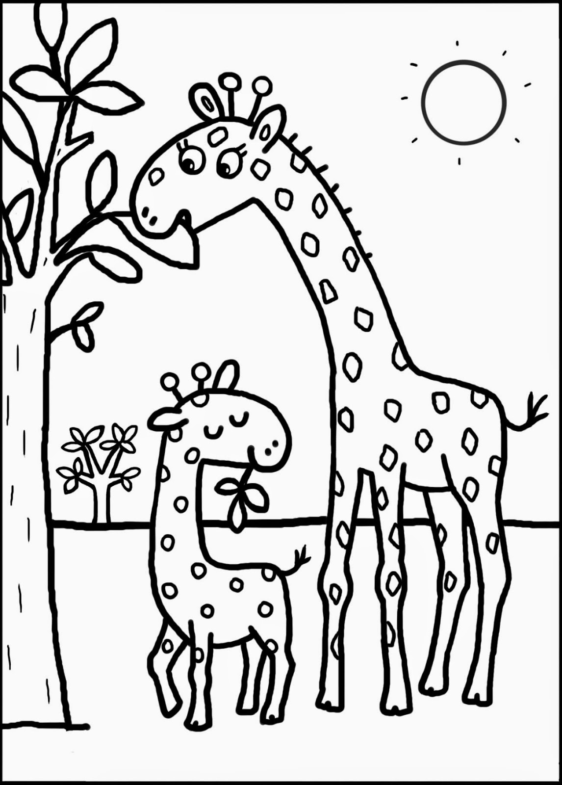 vrac coloriage � dessiner girafe