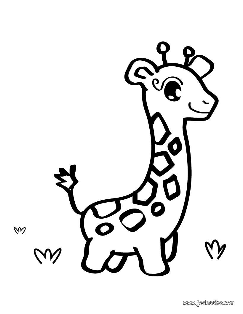 coloriage à dessiner girafes imprimer