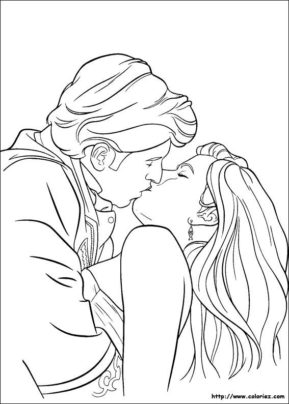 19 dessins de coloriage giselle il etait une fois imprimer - Dessin manga amoureux ...