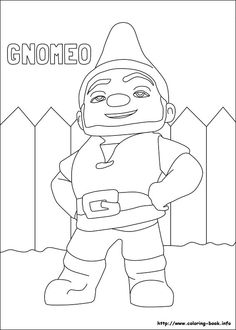 dessin a imprimer gnomeo et juliette