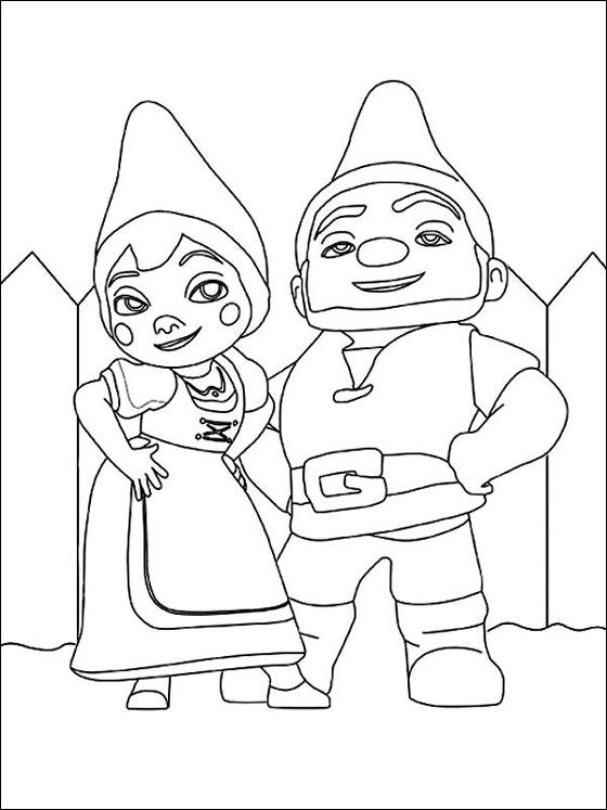 dessin gnomeo et juliette