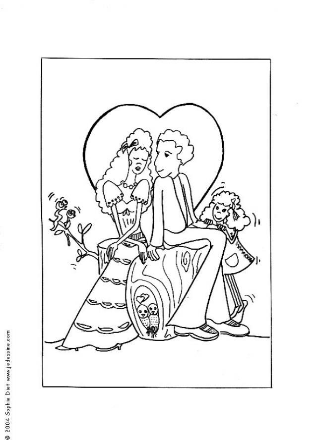 dessin à colorier a imprimer gnomeo et juliette