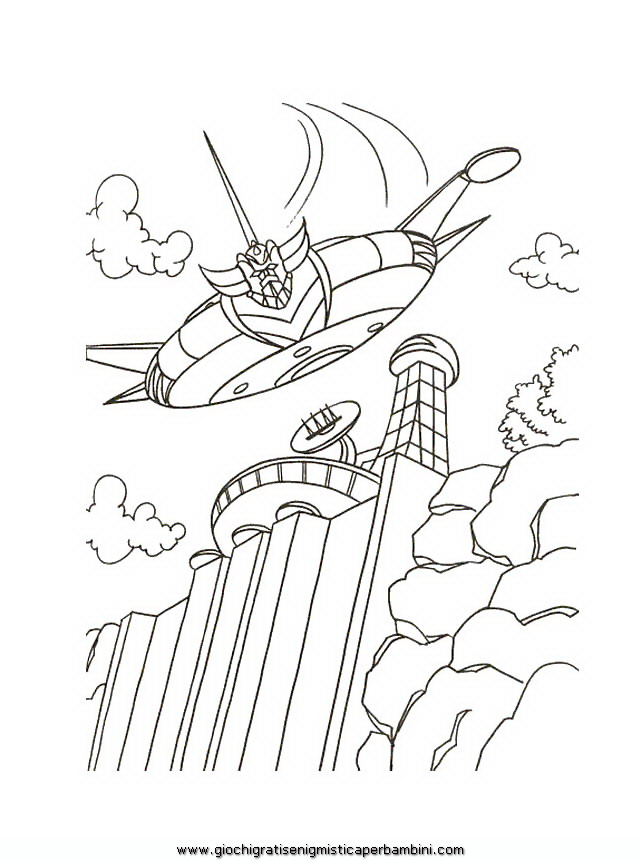 dessin à colorier goldorak imprimer gratuit