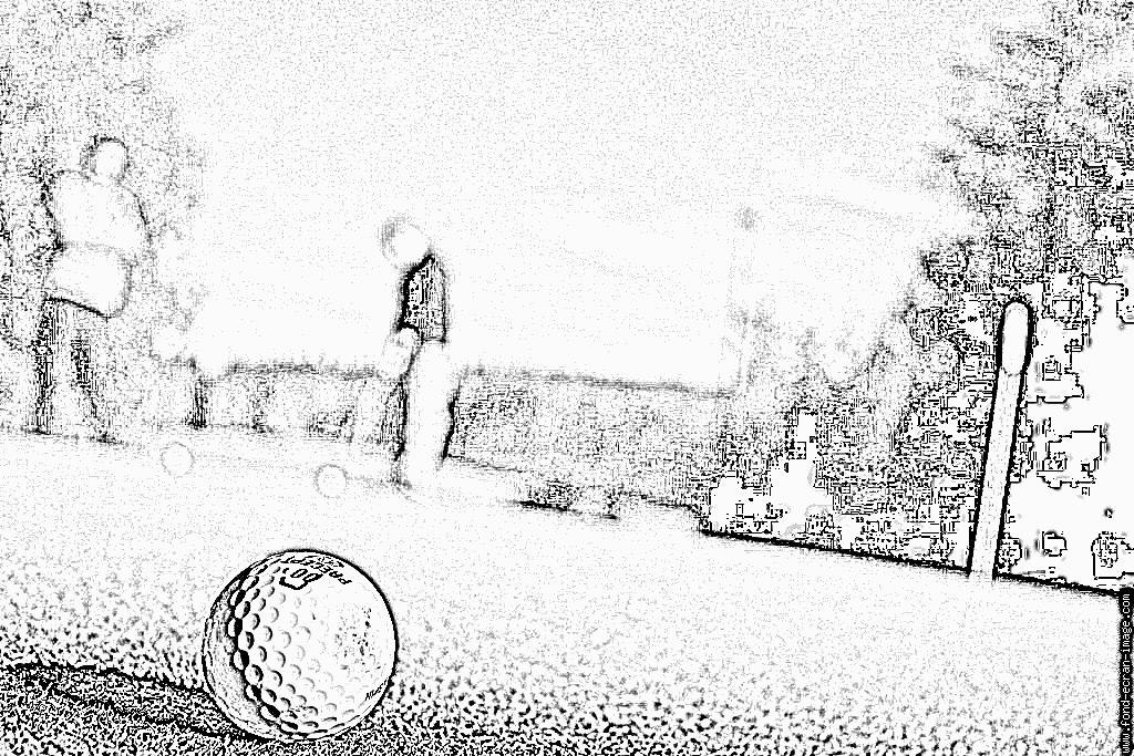 dessin à colorier golfeur