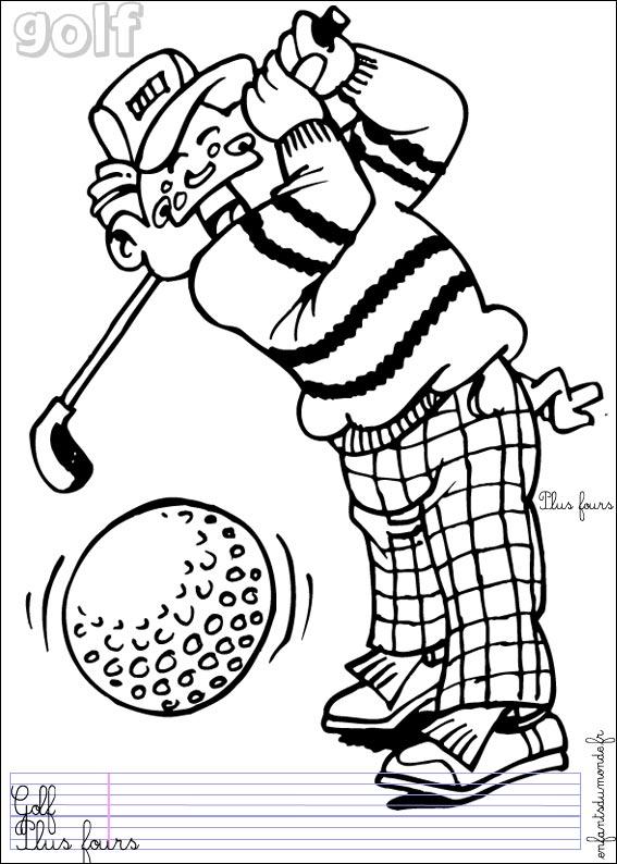 coloriage à dessiner golf 4