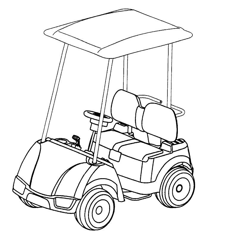 dessin golf