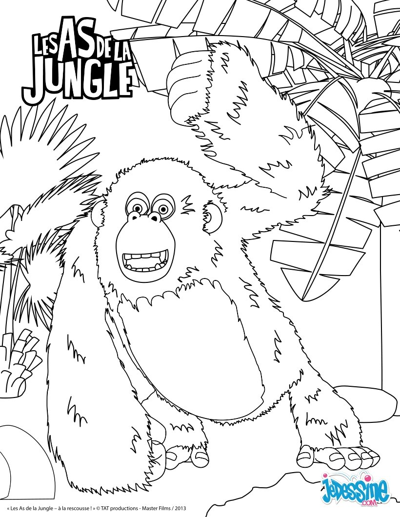 dessin à colorier de gorille