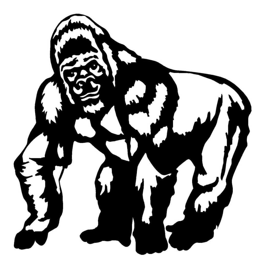 dessin à colorier gorille en ligne