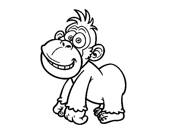 coloriage gorille a imprimer gratuit