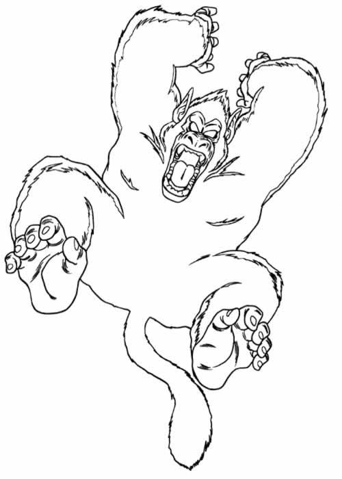 Dessin colorier de gorille - Gorille coloriage ...
