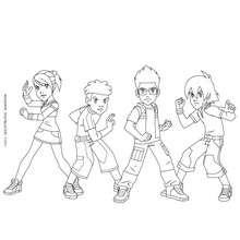 dessin à colorier de gormiti 3d
