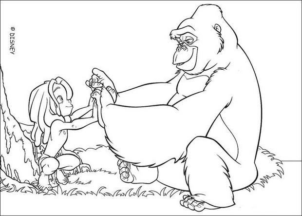 20 dessins de coloriage gratuit imprimer le livre de la - Gorille coloriage ...