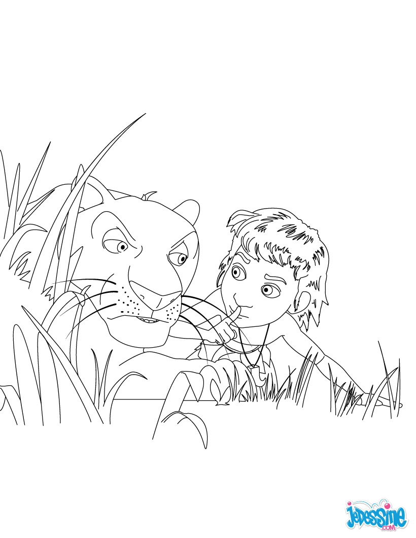 Coloriages des singes du livre de la jungle baloo - Coloriage as de la jungle ...