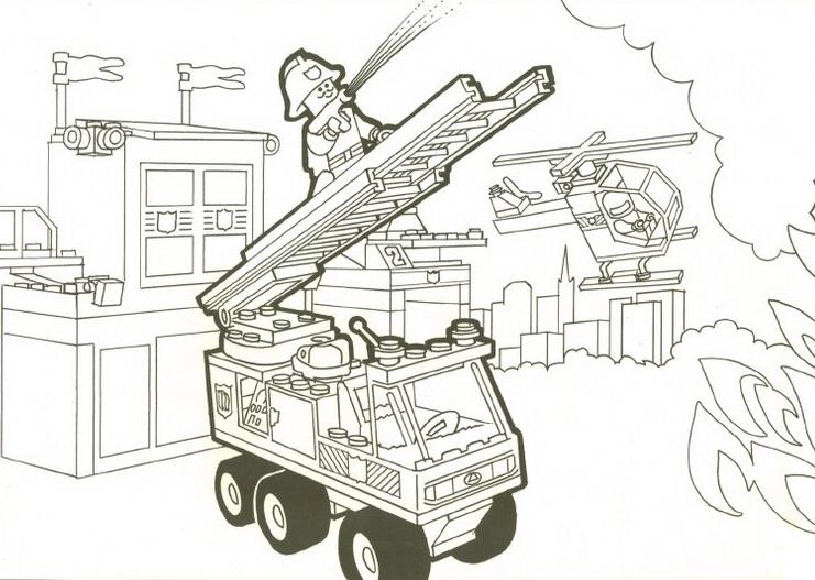 6 dessins de coloriage gratuit lego city imprimer - Lego city a colorier ...