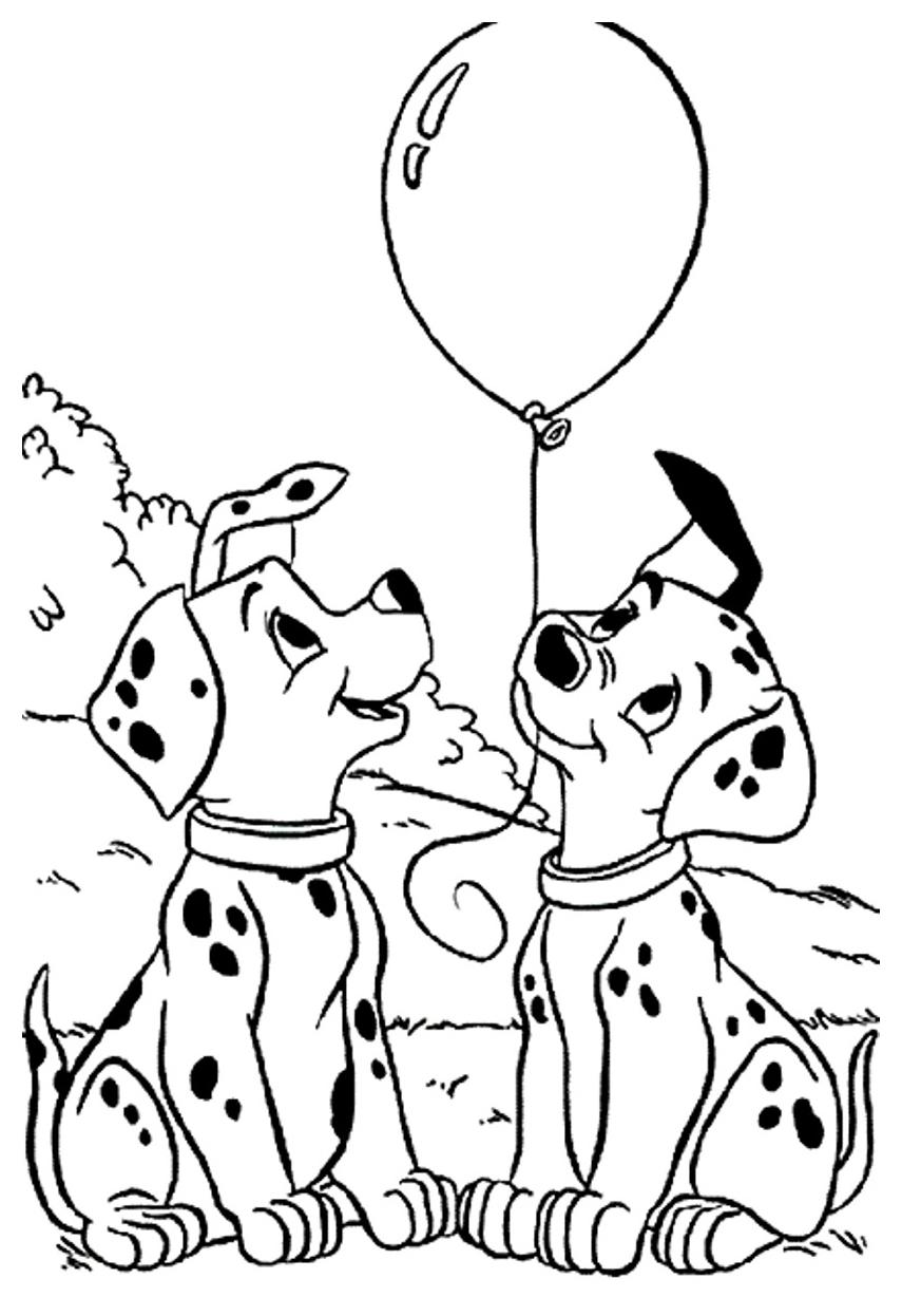 20 dessins de coloriage gratuit les 101 dalmatiens imprimer - Coloriage dalmatien ...