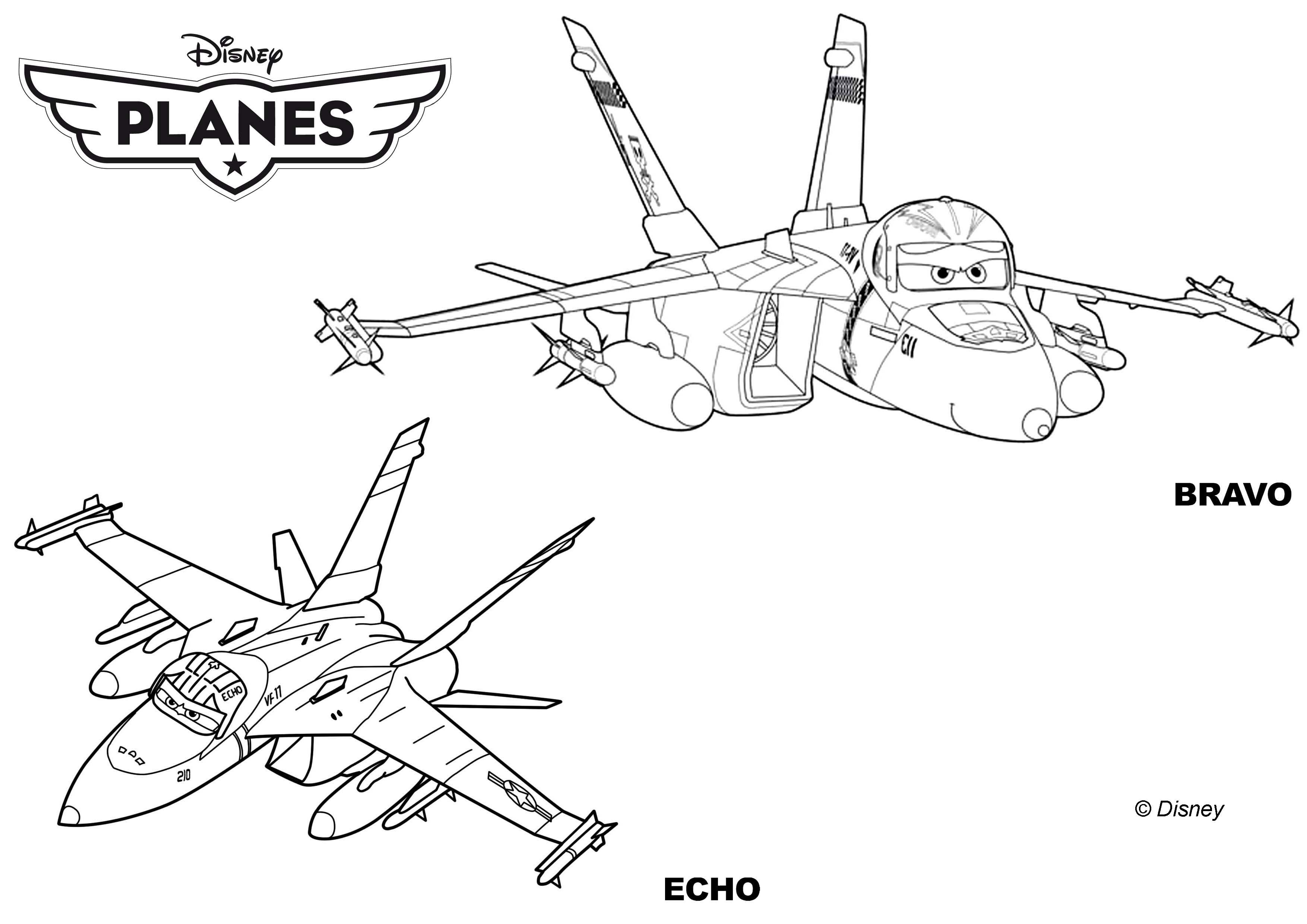 8 dessins de coloriage Gratuit Planes 2 à imprimer
