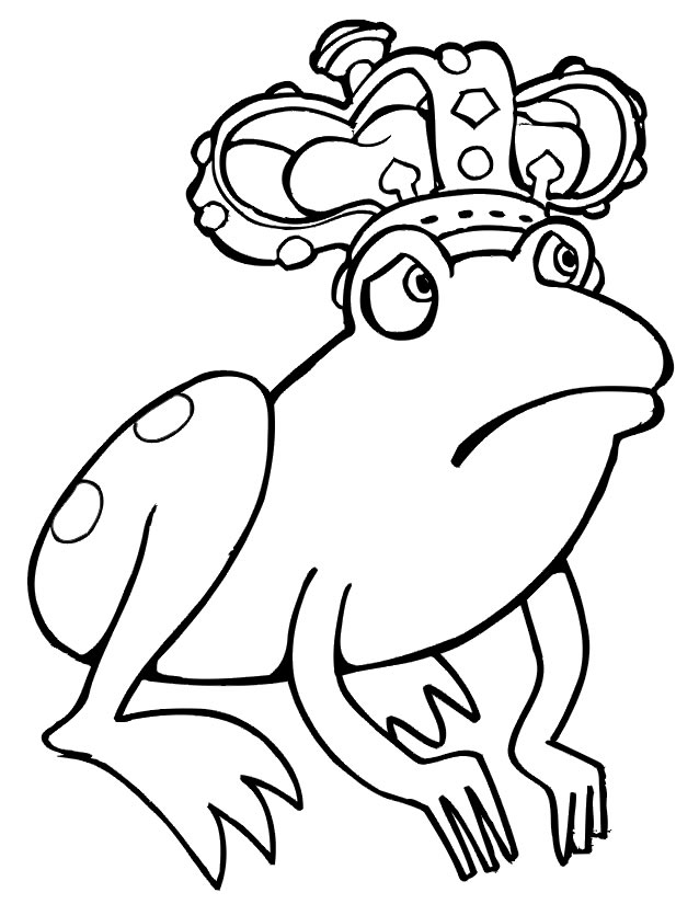 dessin à colorier grenouille hugo l'escargot