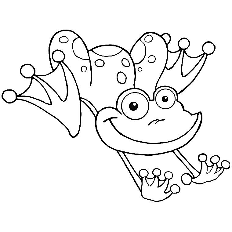 dessin d'une grenouille a imprimer