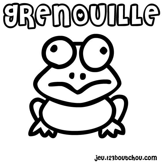 coloriage grenouille a imprimer gratuit
