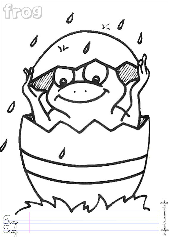 coloriage grenouille m�t�o