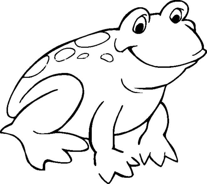 coloriage à dessiner grenouille et boeuf