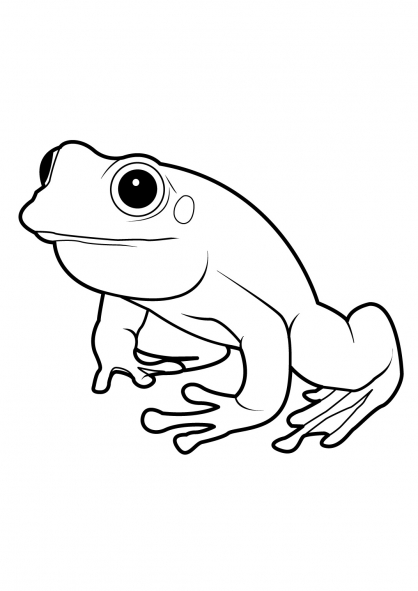 dessin � colorier masque de grenouille