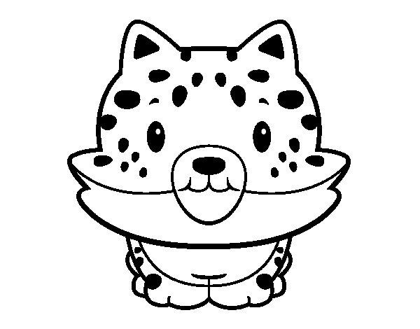 dessin � colorier bebe guepard