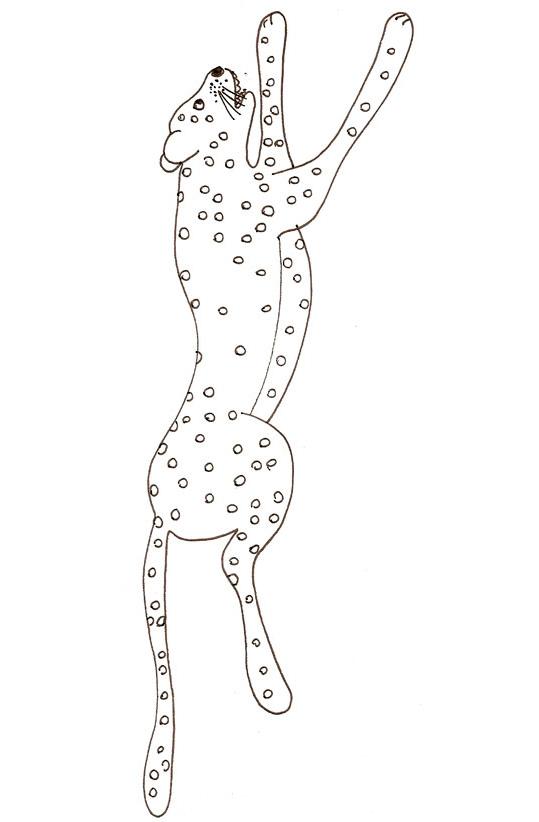 coloriage à dessiner de guépard