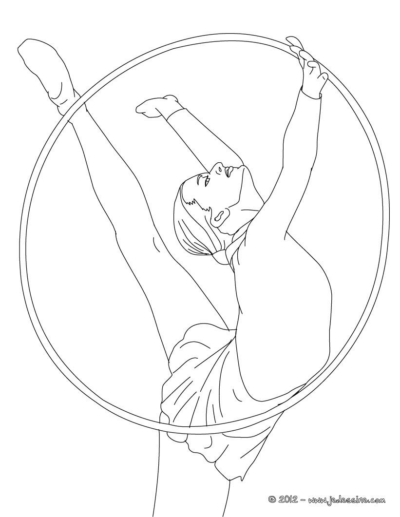 coloriage à dessiner gymnastique rythmique a imprimer gratuit