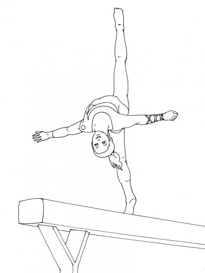 coloriage dessiner gymnastique poutre. Black Bedroom Furniture Sets. Home Design Ideas