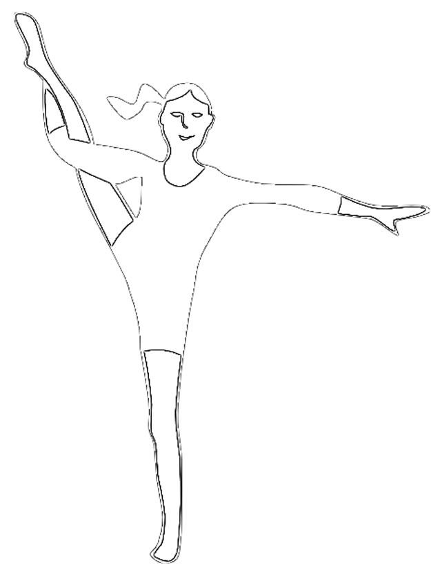 Dessin gym a imprimer gratuit - Dessin gymnaste ...