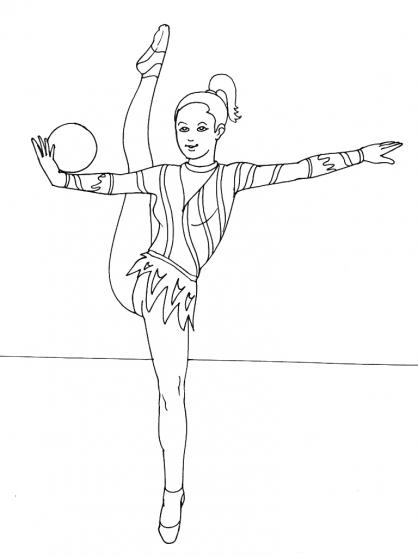 coloriage gymnastique rythmique a imprimer gratuit