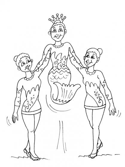dessin à colorier de gymnastique artistique féminine
