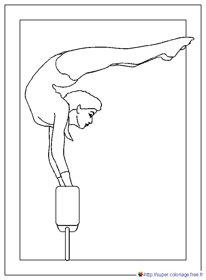 Coloriage de gymnastique gratuit a imprimer - Dessin gymnaste ...